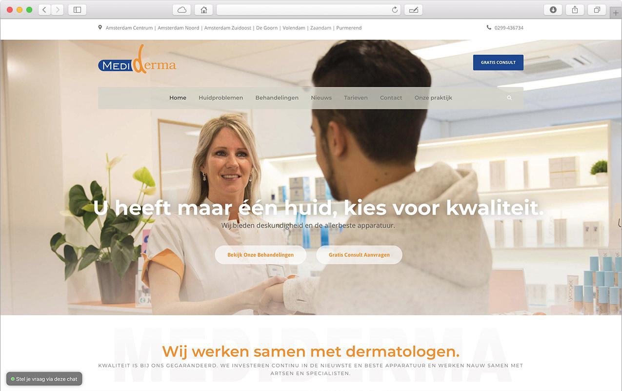 Nieuwe website Mediderma
