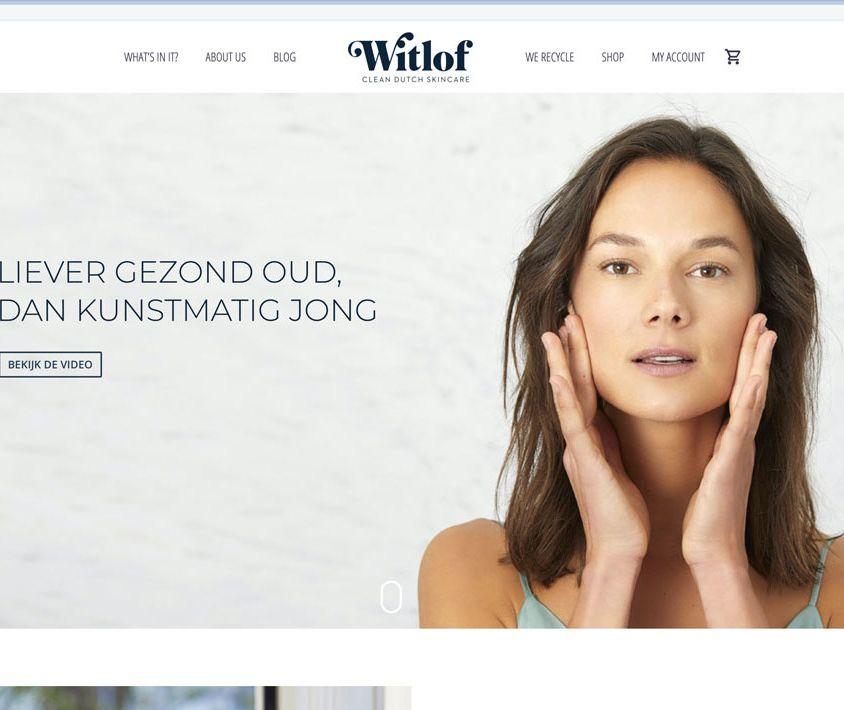 Webshop voor nieuw merk Witlof Skincare