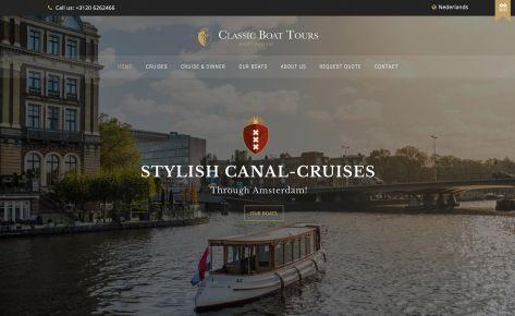 Website & fotografie voor Classic Boat Tours