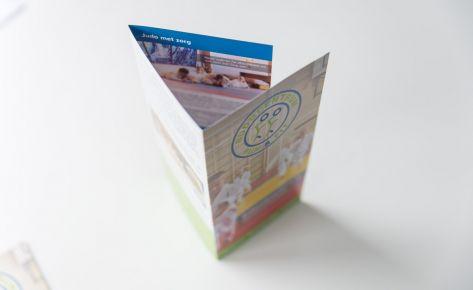Folder ontwerp voor Fun & Fit