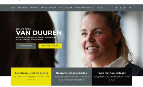 'Werken bij' website voor Van Duuren