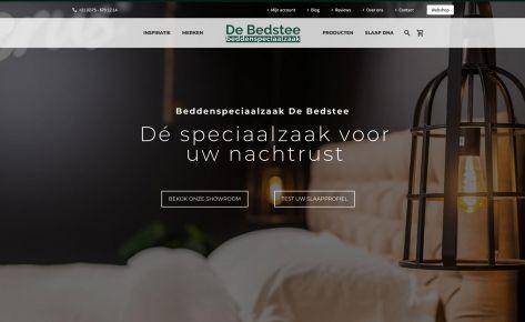 Sfeervolle website en webshop voor de Bedstee