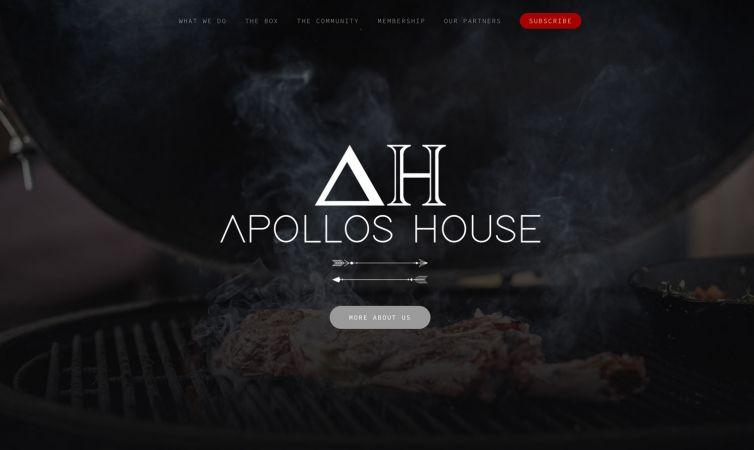 Website, fotografie en video voor Apollos House
