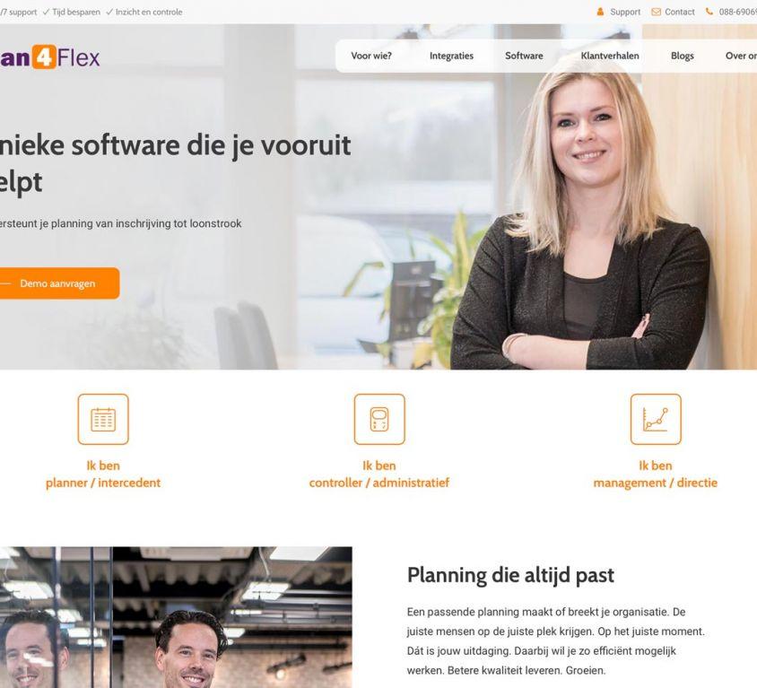 Ontwerp en bouw website voor Plan4Flex